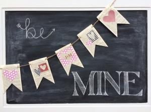 Valentines Banner & Chalk Board